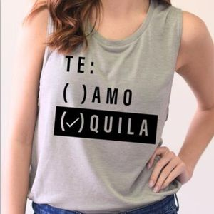 Black Te(quila) Muscle Tank